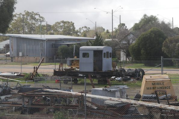 RT rail tractor stabled off rail at Dimboola