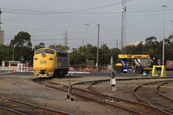 S306 stabled in a dead end road at the Pacific National Melbourne Freight Terminal