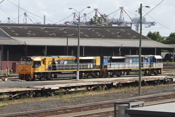 LDP005 and LDP002 stabled in the North Dynon fuel point