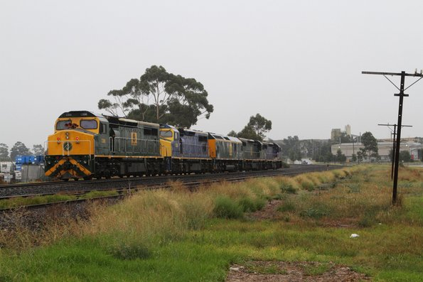 C507-C509-RL307-C505-C506 run light engine from Cardiff in NSW to South Dynon near McIntyre Loop
