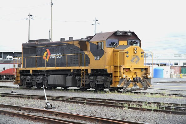 X54 stabled in the yard at North Dynon