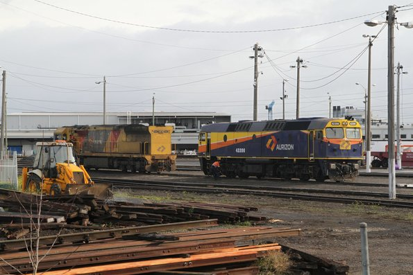 Aurizon 6029 and 42206 stabled at North Dynon
