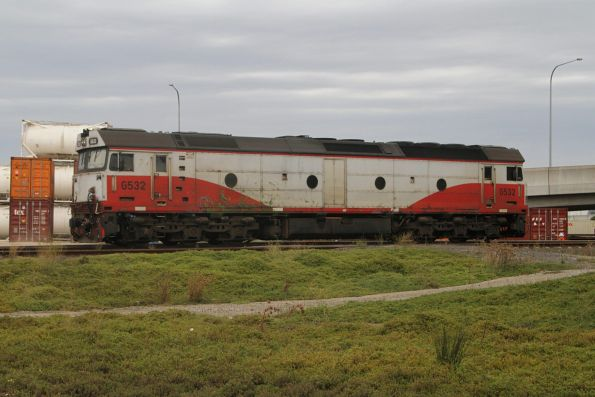 G532 stabled at the Victoria Dock sidings