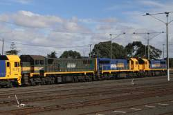 X44, XR554 and XR552 stabled at North Geelong Yard