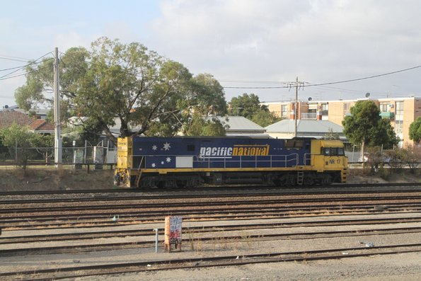 NR17 heads light engine on the down through West Footscray
