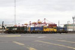 Y152, T371 and H1 stored at the Melbourne Freight Terminal