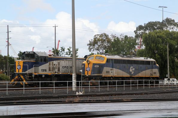 B80, T376 and T373 stabled at North Dynon