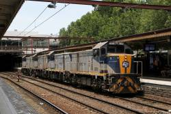 T377 leads T369, T373 and T376 on the up at Flinders Street platform 10
