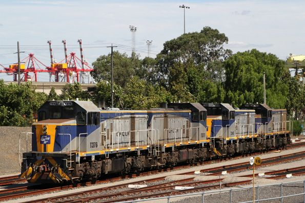 T376, T377, T369 and T373 stabled at North Dynon