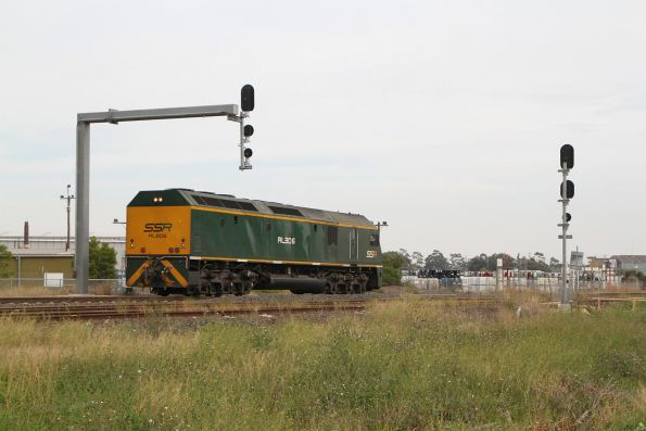 Wednesday, 1 April - RL306 on a SSR light engine move shunts back long end leading into McIntyre Loop