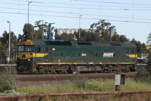 G543 at Sunshine on an up light engine move from North Geelong Yard