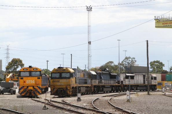 South Dynon shunter 8114 stabled beside NR16, LDP002 and LDP007