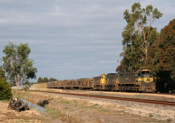 Awaiting departure from the log yard at Bairnsdale
