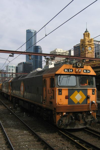 BL34 and BL32 on a down train at Flinders Street
