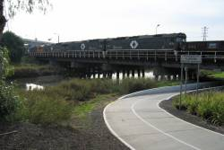 Shunting out over Moonee Ponds Creek