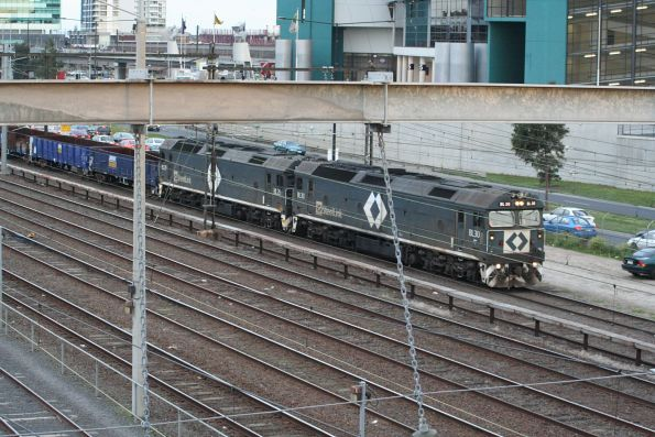 BL30 and BL29 lead the up steel train through Southern Cross