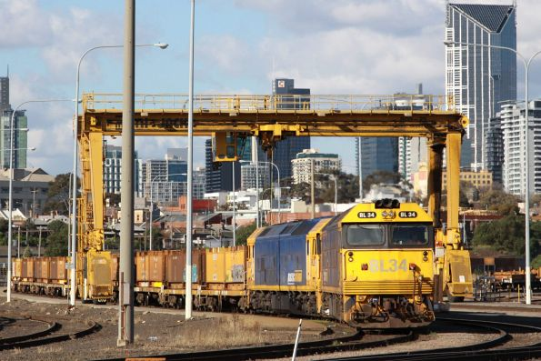 Train arrived at the steel terminal, having shunted forward along the Reversing Loop, then back into the terminal