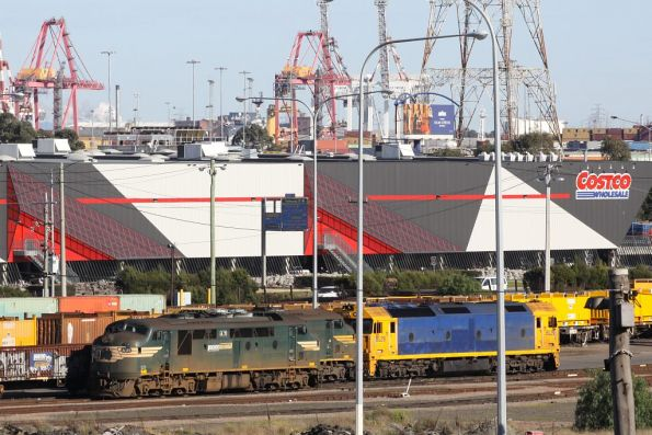 Stabled for the weekend at the Melbourne Steel Terminal - A71, another A class, and BL29