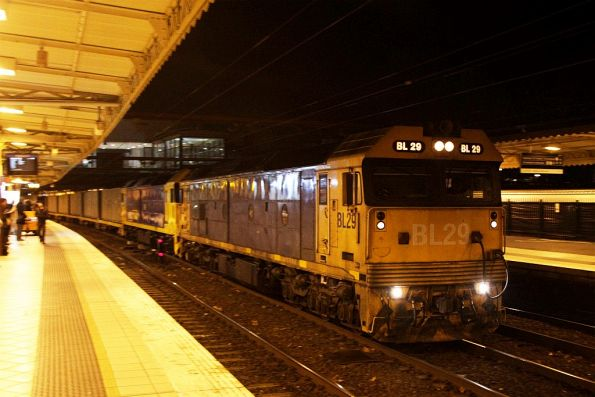 BL29 and G541 leads the up steel train through Flinders Street track 9A