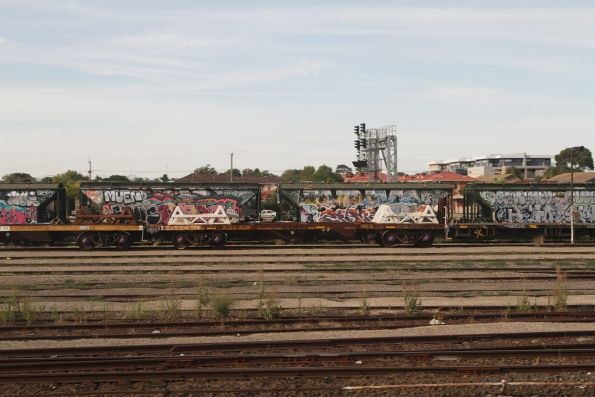 Wagons for the broad gauge steel train stabled in Tottenham Yard