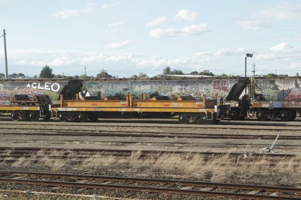RKLX coil steel wagons stabled at Tottenham Yard