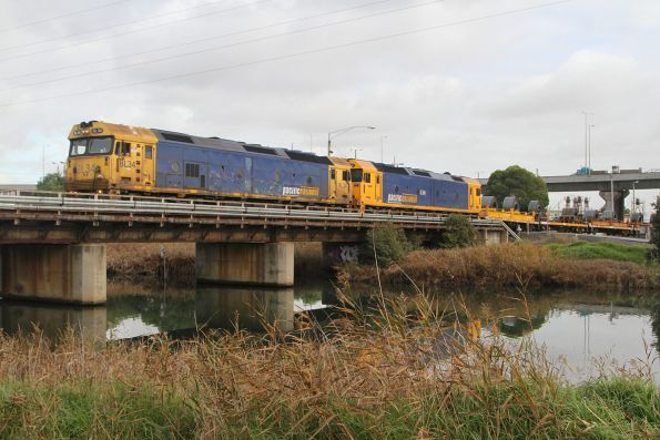 BL34 and G541 depart South Dynon with a load of coil steel