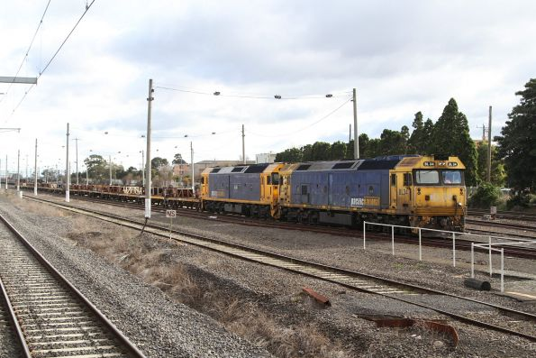 BL34 and G541 ready to depart Tottenham Yard with a rake of empty coil steel wagons