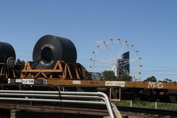 Coil steel beside the Southern Star observation wheel