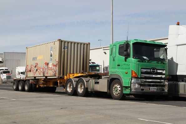 Pacific National steel container loaded on a truck