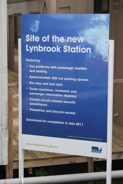Lynbrook station construction