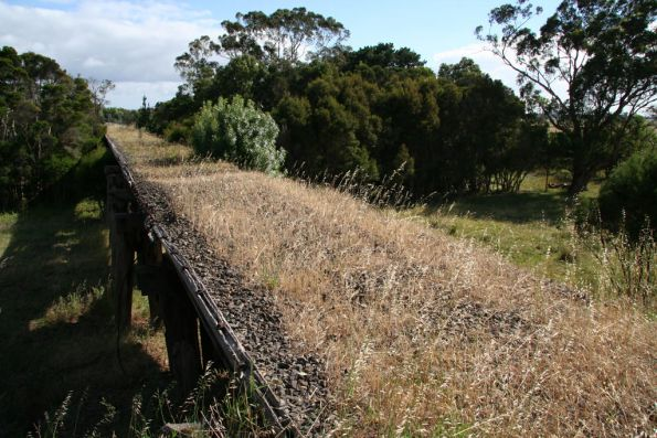 Trestle over the La Trobe River floodplain outside Glengarry