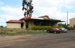 Platform side of the Maffra station building