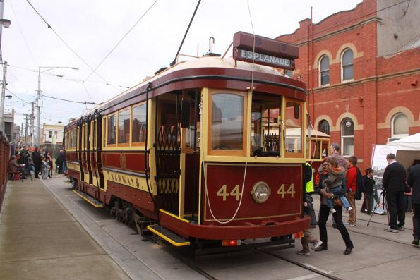 Tram 44 on display
