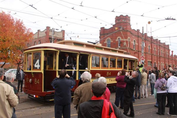 Tram 84 reenacts the opening day 100 years ago