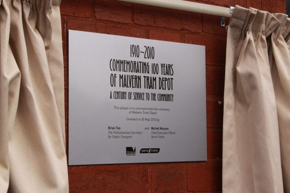 Plaque unveiled for the 100th birthday of the depot