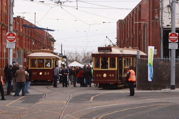 Trams 84 and 44 on Coldblo Road