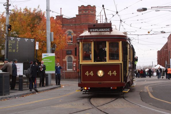 Tram 44 heads out on another public run