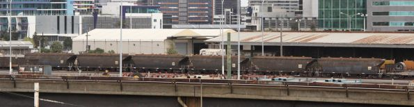 NGGF sugar hoppers at the Melbourne Steel Terminal, loaded in Grafton NSW and bound for the Manildra Group siding at North Dynon