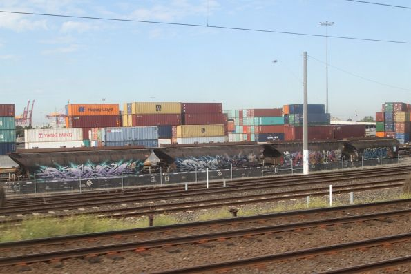 Rake of four NGGF sugar wagons stabled at North Dynon