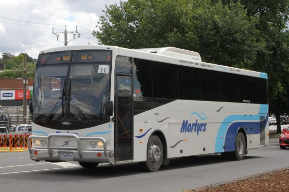 Martyrs coach #44 7544AO on a school service along Maroondah Highway, Lilydale