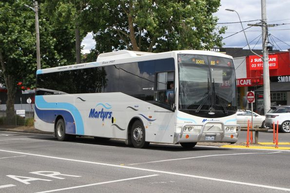 Martyrs coach #11 0011AO on a school service along Maroondah Highway, Lilydale