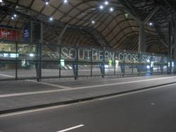 4:07 AM and Southern Cross is locked up tight