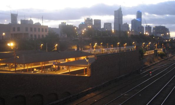 North Melbourne Station and the morning commute begins