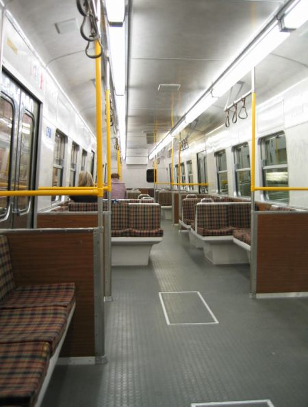 Hitachi D car interior