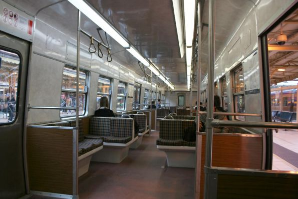 Interior of partially refurbished Hitachi 42M