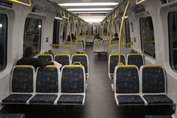 Onboard Comeng 541M with the Connex-era modified seating layout