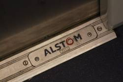 2013 Alstom builders plate onboard an X'Trapolis train