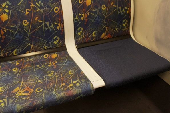 Mix of M>Train and Connex seat fabrics onboard a Siemens train