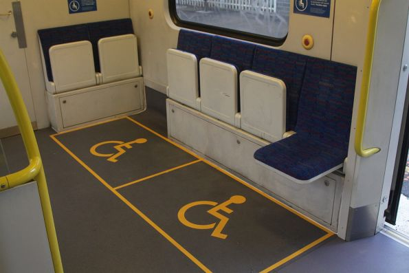 New wheelchair markings onboard Siemens 705M
