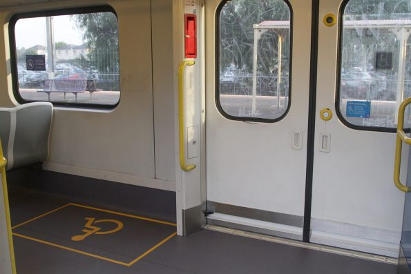 New wheelchair area onboard Siemens 705M